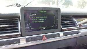 A8 D3 MMI Bluetooth Menu