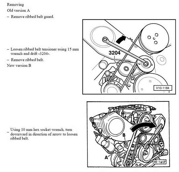 audi q7 serpentine belt diagram