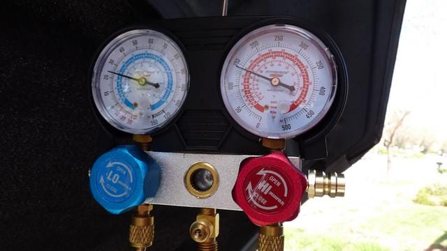 Low and High Pressure Engine AC On