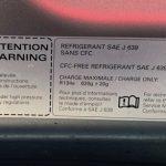A8 AC Specs Label