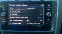 e-golf charging setting
