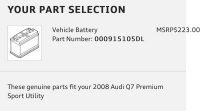 Battery Part #000915105DL