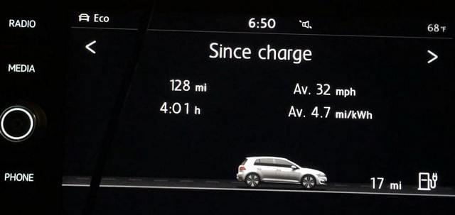 Real Life Range On My 2017 VW eGolf