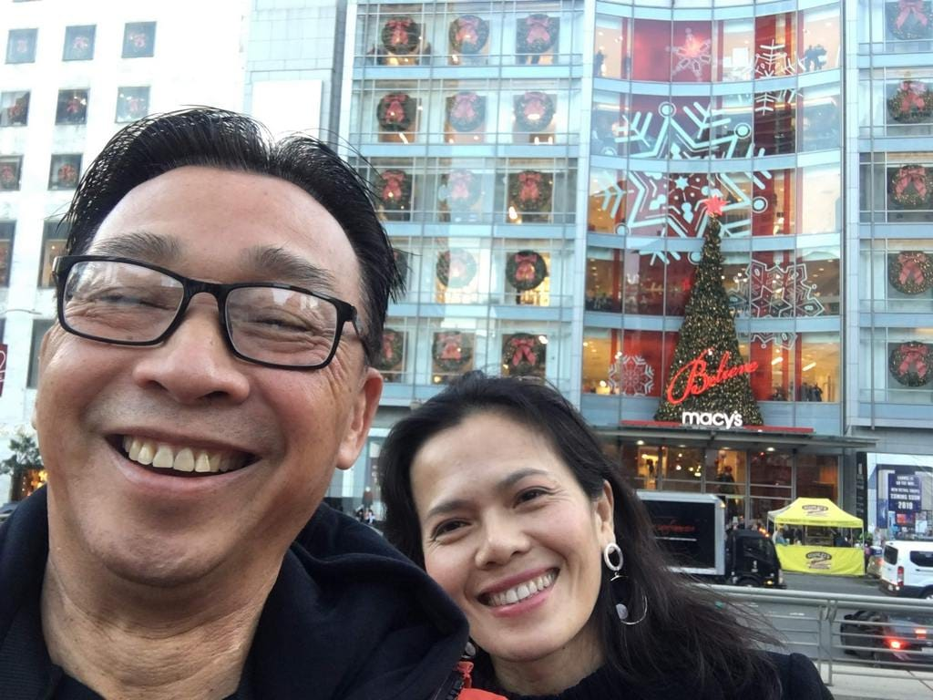 Mom and dad selfie