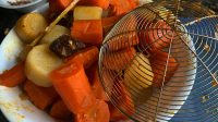 Cooked Carrots and Dakon