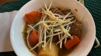 VN Beef Stew Served with Beansprouts
