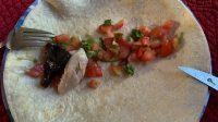 make a burrito with el pollo loco chicken