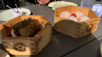 shrimp dumplings and bean curd wraps