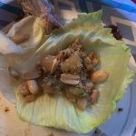 lettuce wrap with peanuts