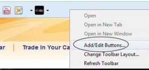 Right click yahoo tool bar
