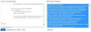 js minifying