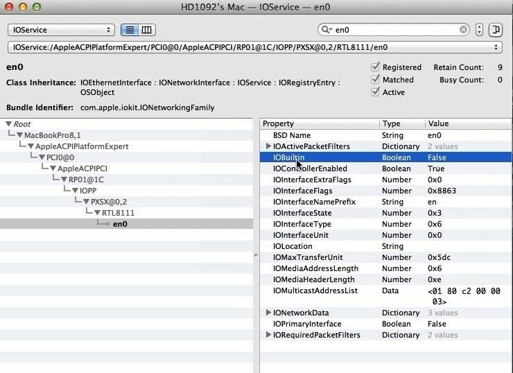 "How To Fix Ethernet en0 Built-in ""FALSE"" Mavericks 10.9.2"