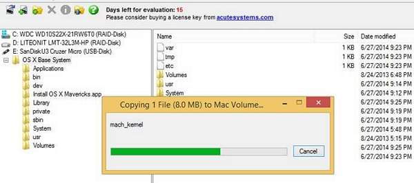 Create Mavericks 10 9 2 USB Boot and Installer With Windows