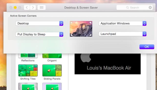Mac OS X Hot Corners
