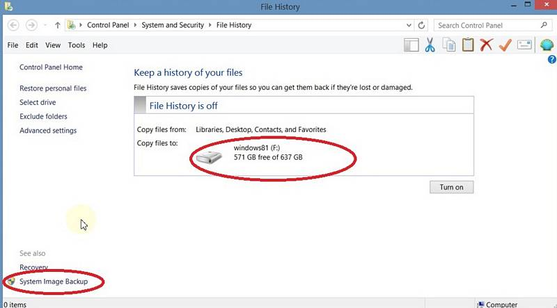 How To Back Up Hard Drive Image In Windows 8.1
