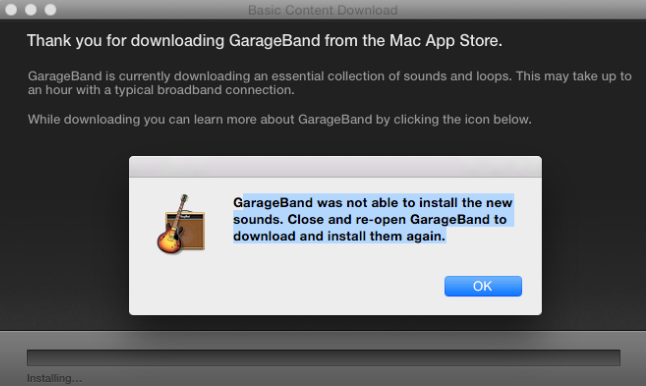 How To Fix Garageband 10 10 3 Failing To Download And Install Loops