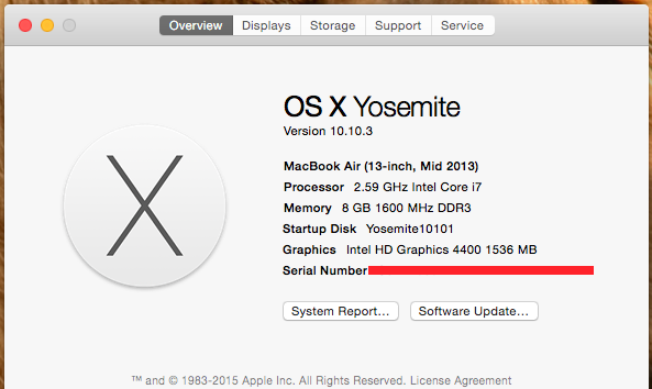Update Yosemite 10.10.3 From 10.10.1 On Haswell HD4400