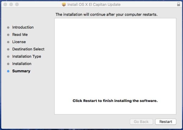 Update El Capitan 10.11.1 From 10.11