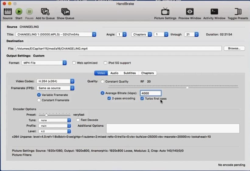 How To Back Up Bluray Disc To MP4 Using HandBrake on Mac
