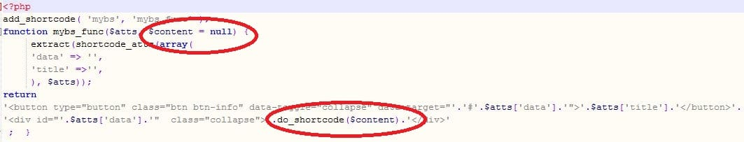 How To Embed Shortcodes inside a Shortcode