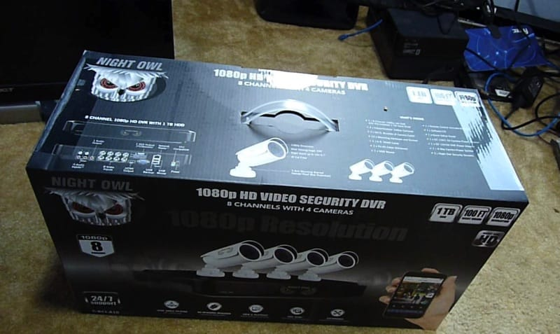 Costco Night Owl CAM-AHD10-8 1080P Home Security Camera System