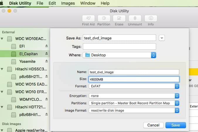 How To Create an ISO image with files and folders on Mac OS X