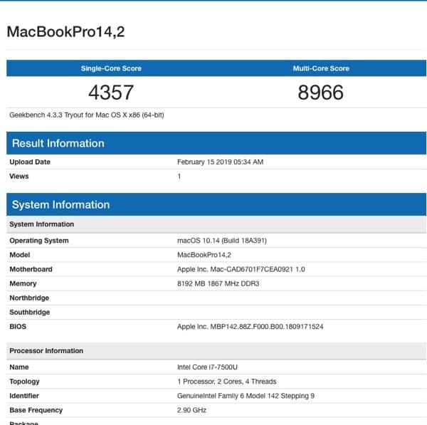 MacOS Mojave On HP Envy 13-AD010NR Kaby Lake