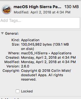 macOS High Sierra 10.3.4 Update on Haswell HD4400