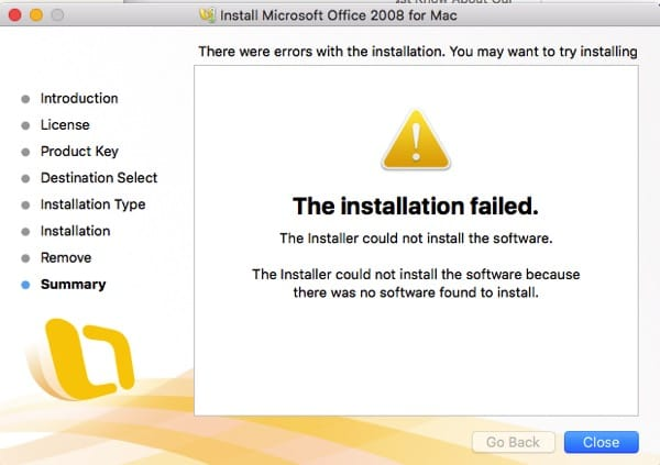 The Installer Could Not Install…In El Capitan OS