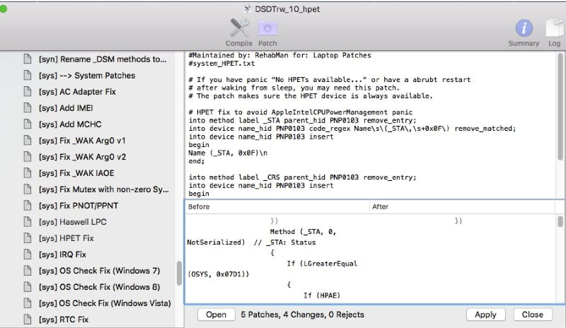 How To Patch DSDT-SSDT For HP Haswell Laptop From Beginning To End